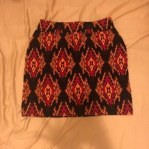 Pieces by Kensie Ikat Print Skirt
